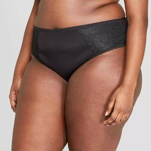 Women's Plus Size Micro Cheeky with Lace